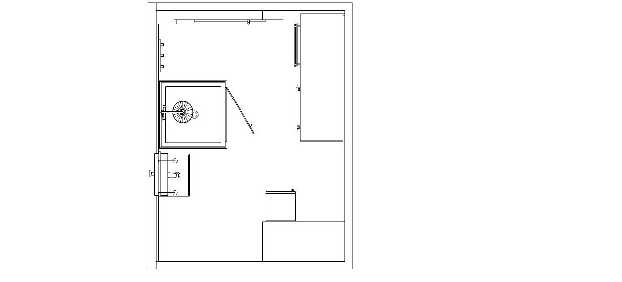 Un plan de la salle de bains
