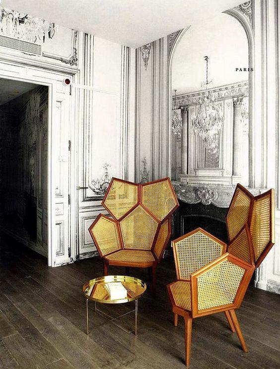 Des fauteuils en rotin modernes