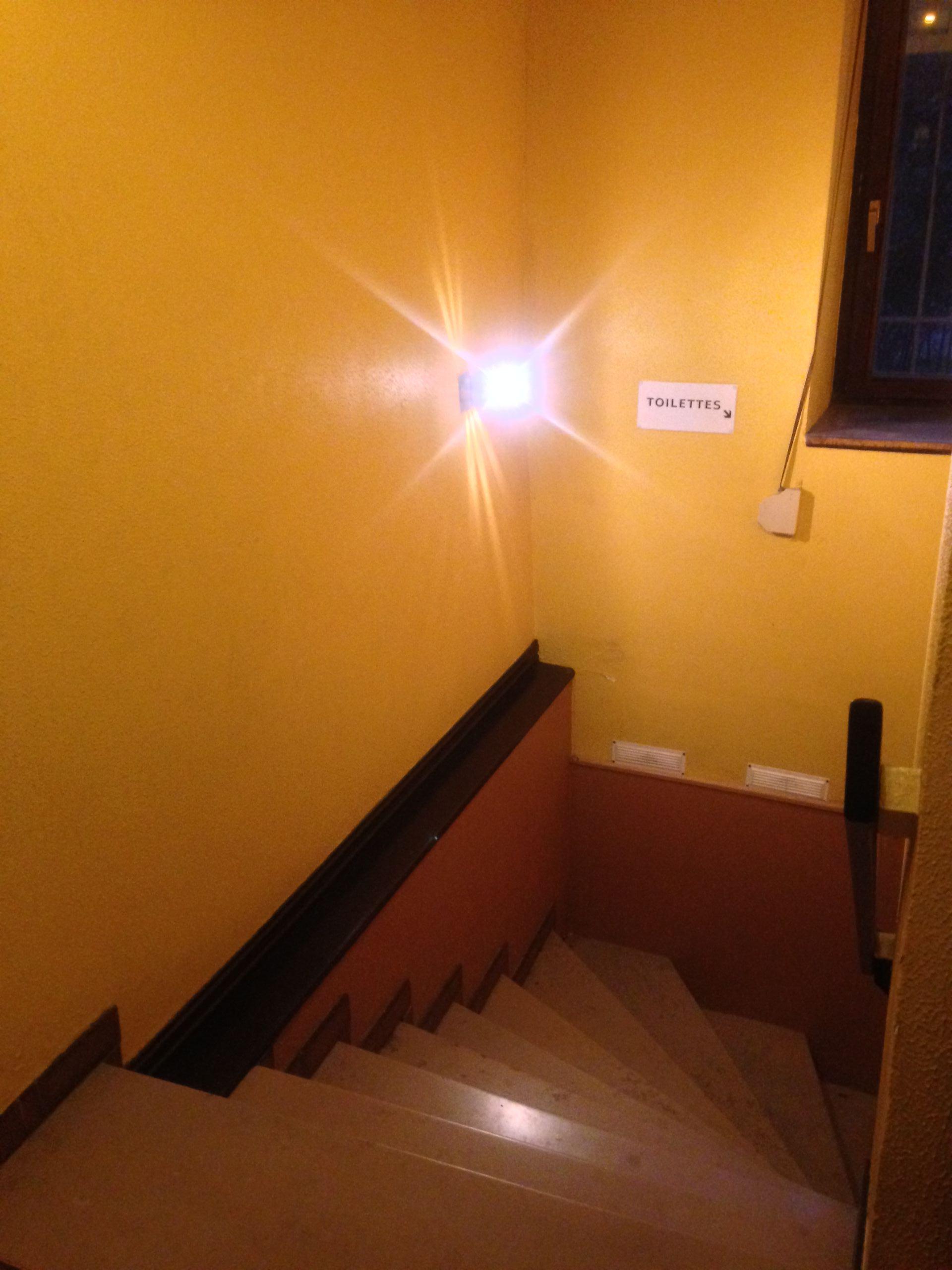 Le couloir des toilettes avant travaux