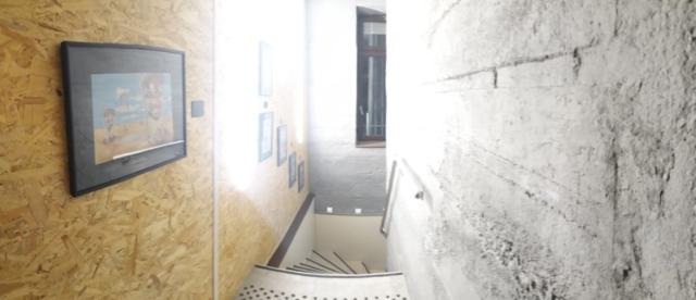 Le couloir des toilettes